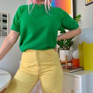 Vintage 70s cozy short sleeve sweatshirt S-L